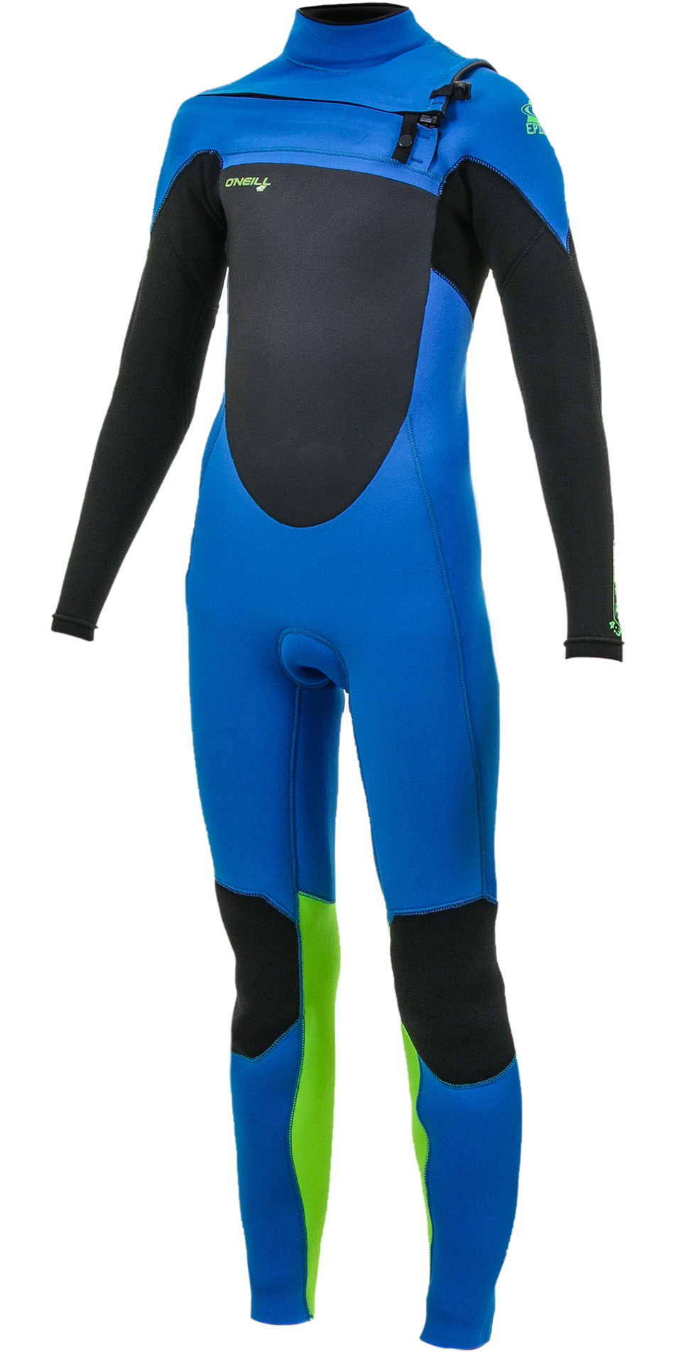 2020 O'Neill Youth Epic 5/4mm Chest Zip GBS Wetsuit Ocean / Black / Dayglo 5372