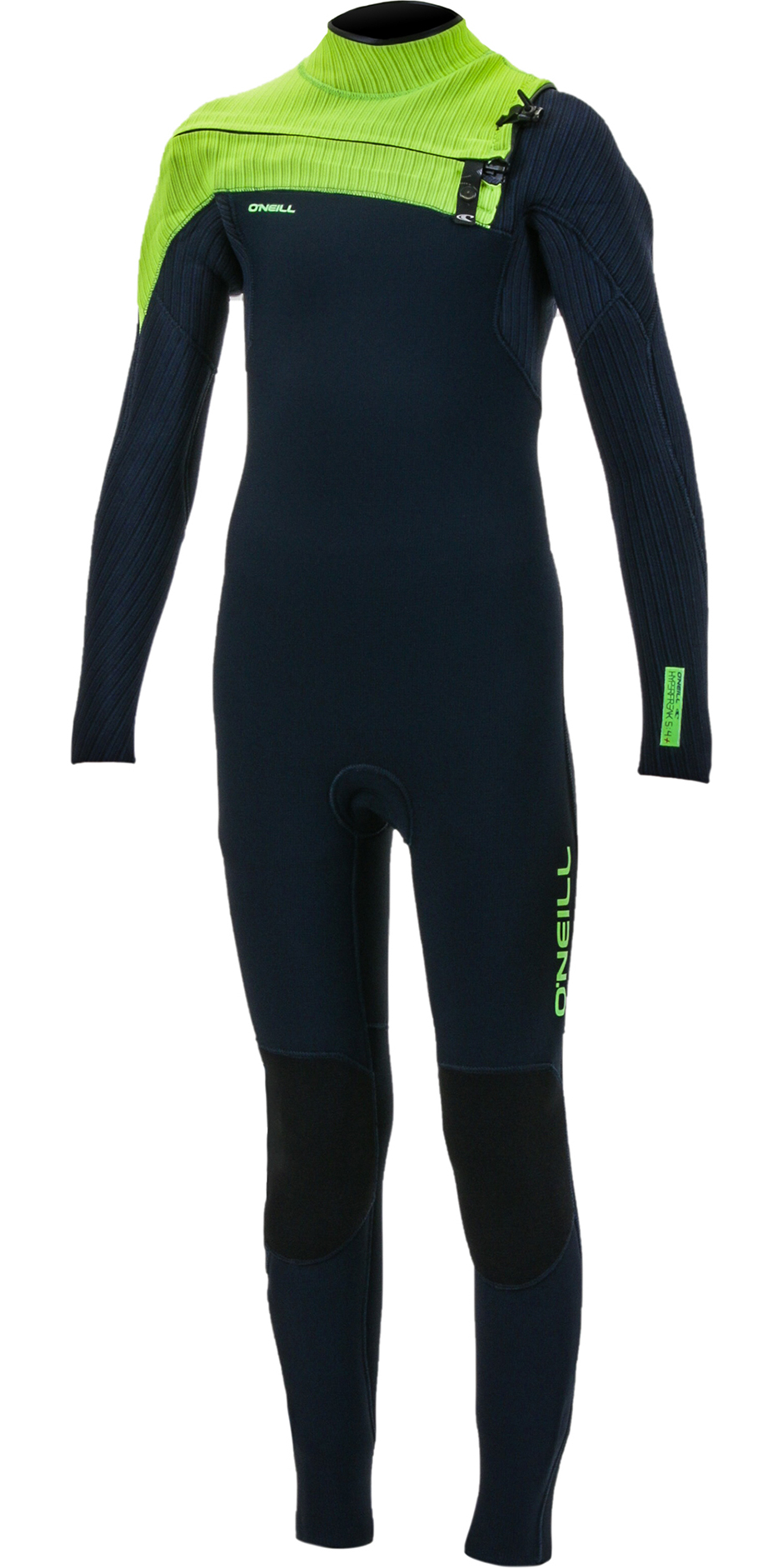 2019 O'Neill Youth Hyperfreak+ 5/4mm Chest Zip GBS Wetsuit Abyss / Dayglo 5381