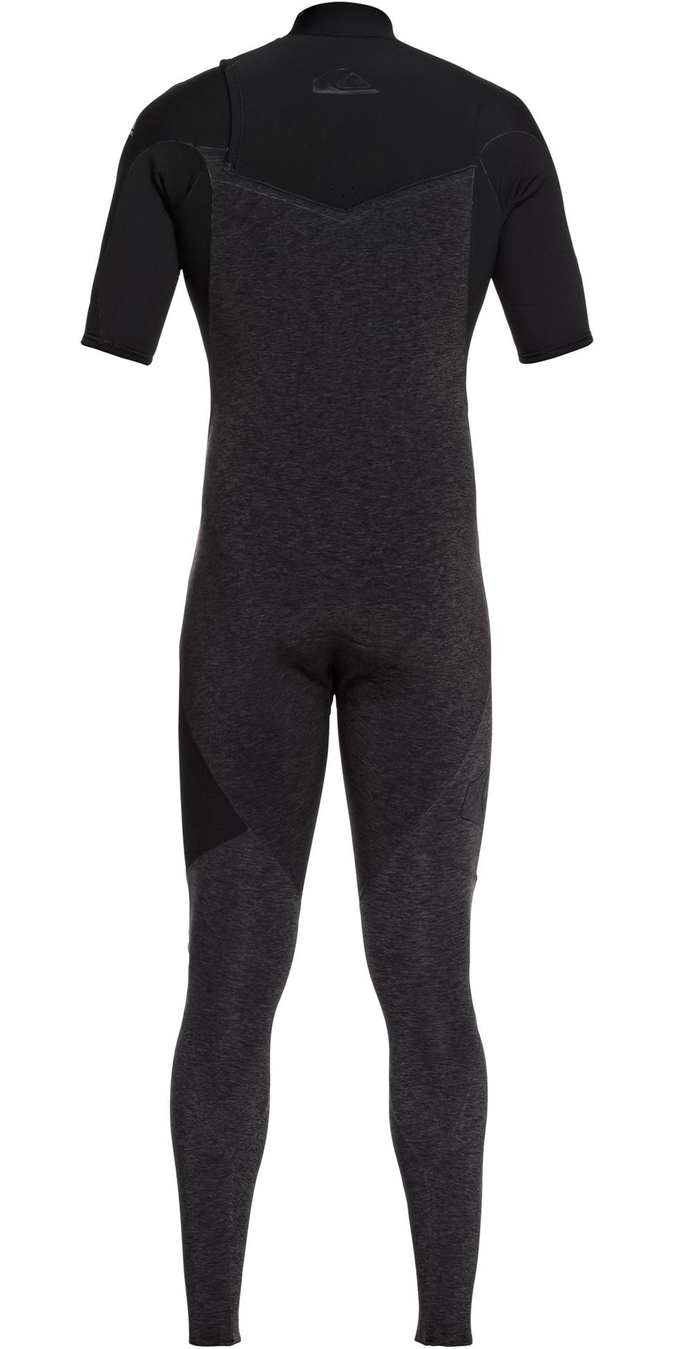 2019 Quiksilver Highline 2mm Zipperless Short Sleeve Wetsuit Black EQYW303009