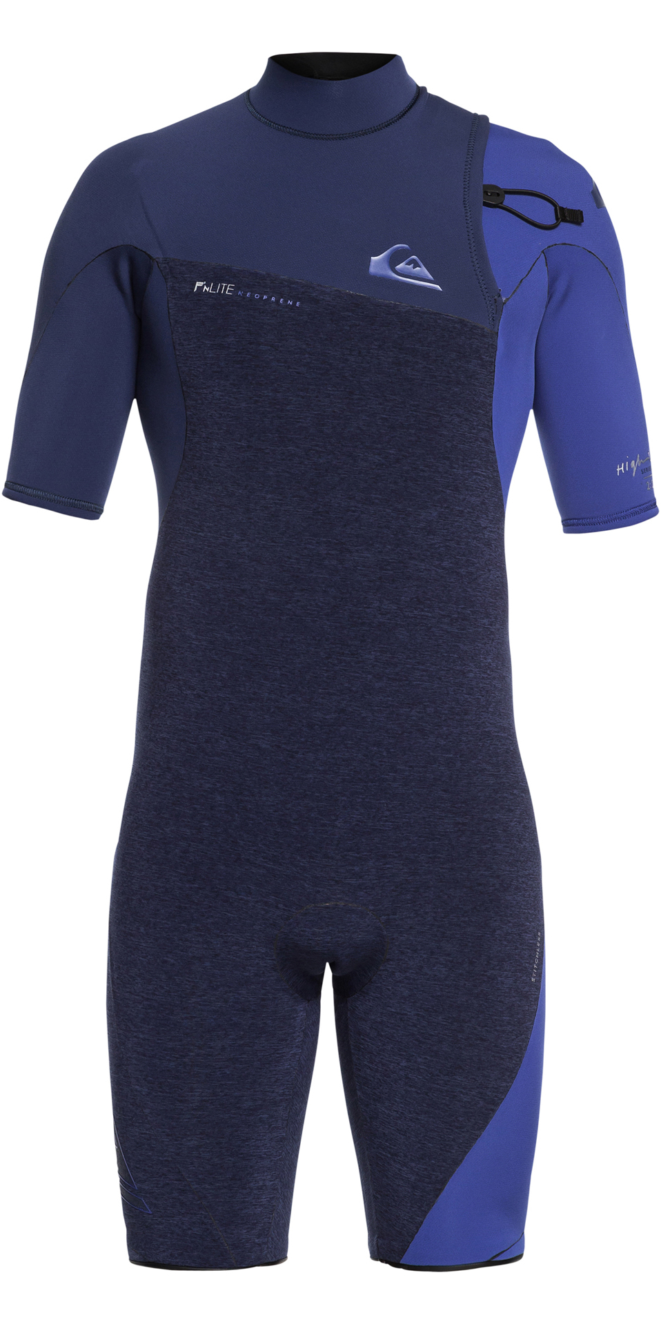 2019 Quiksilver Highline 2mm Zipperless Shorty Wetsuit Navy EQYW503009