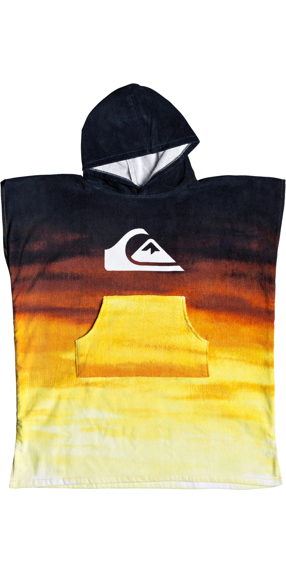 2019 Quiksilver Youth Hoody Towel / Changing Robe Tiger Orange EQBAA03060