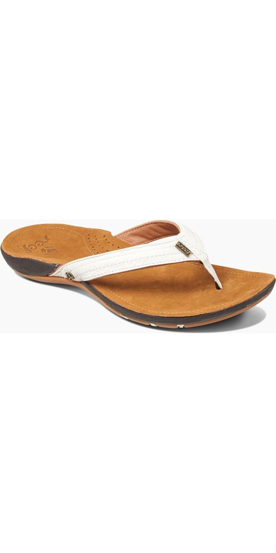 new product 33f87 4ef9c 2019 Reef Womens Miss J-Bay Sandals / Flip Flops Tan / White RF001241