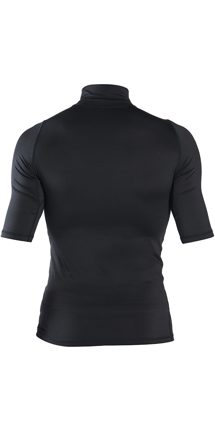 2019 Rip Curl Corpo Short Sleeve High Neck Rash Vest Black WLE8OM