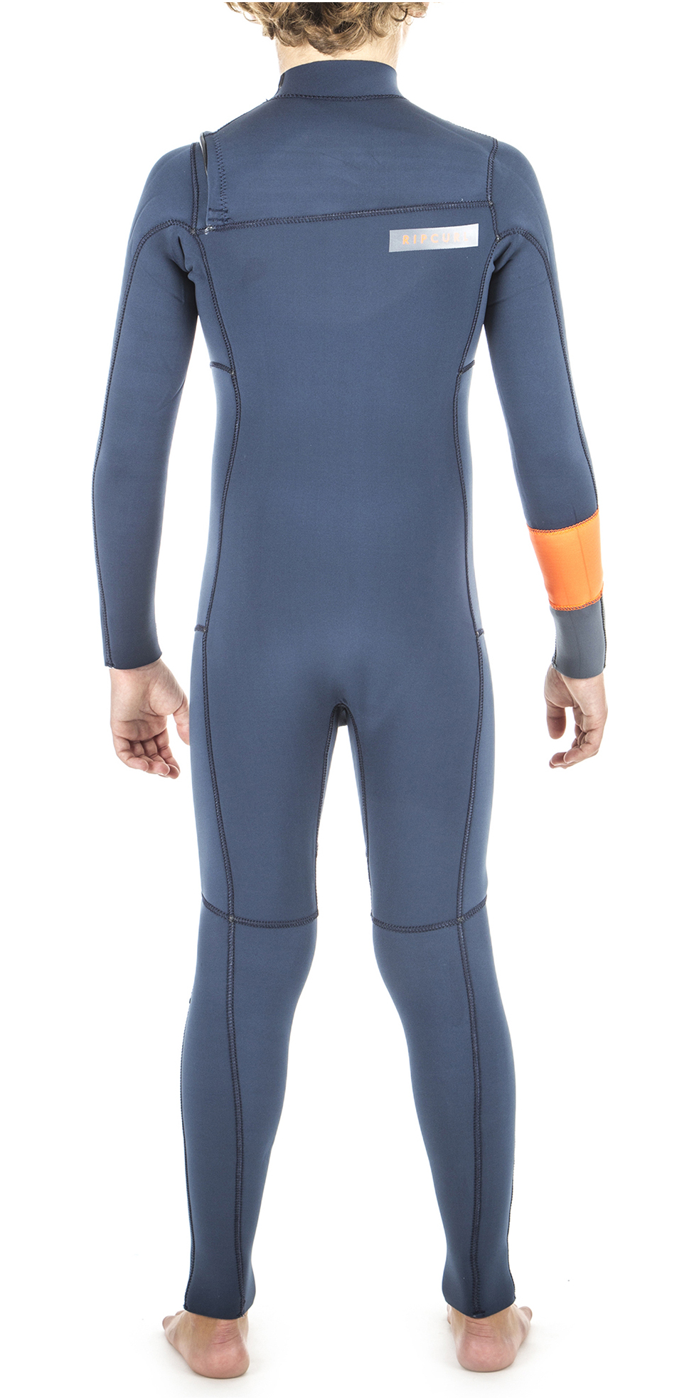 2019 Rip Curl Junior Boys Aggrolite 4/3mm Chest Zip Wetsuit Orange WSM8LB