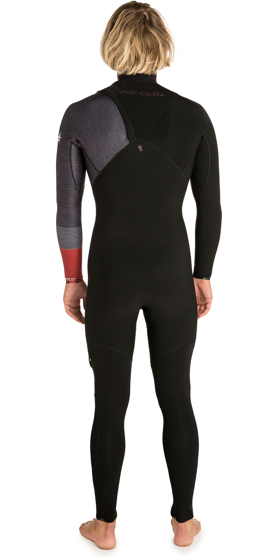2019 Rip Curl Mens E-bomb 2mm Zip Free Wetsuit Black / Red WSM8US