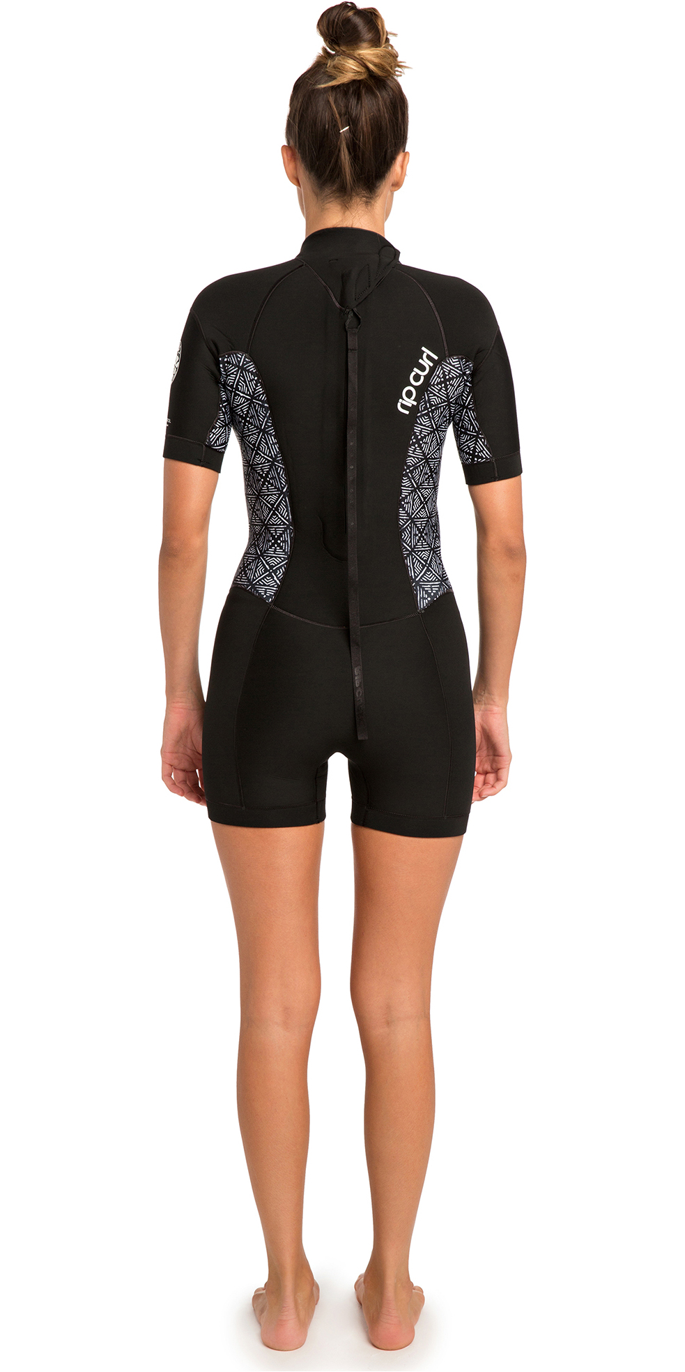 2019 Rip Curl Womens Dawn Patrol 2mm Back Zip Shorty Wetsuit Black WSP8FW