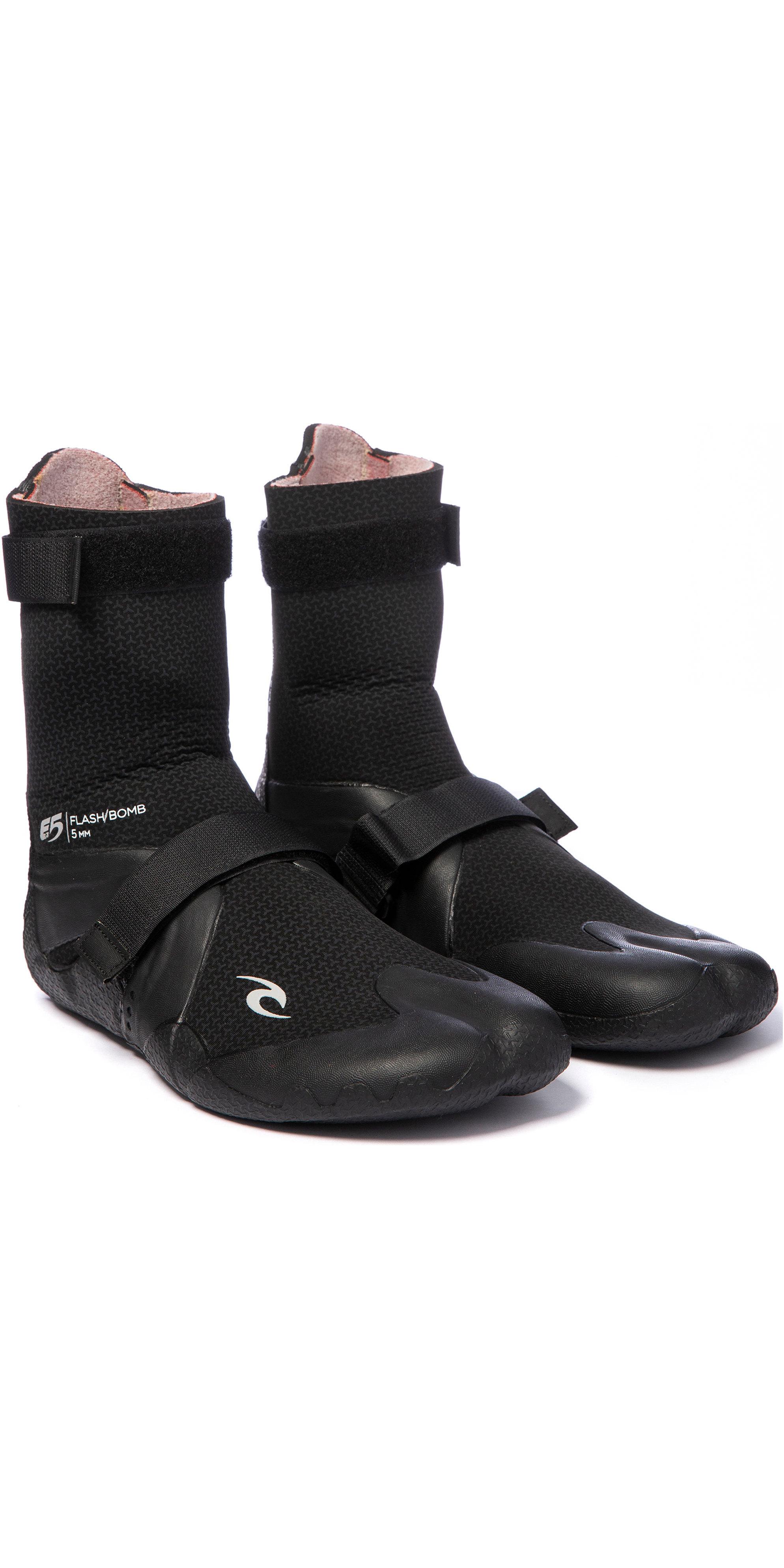 2019 Rip Curl Flashbomb 5mm Hidden Split Toe Boots WBO7IF - Black