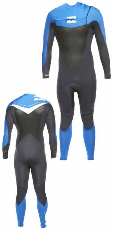 Billabong Foil 5/4mm CHEST ZIP Wetsuit Graphite/Ocean/White L45M07