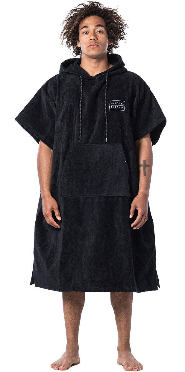 2019 Rip Curl Newy Change Robe / Poncho BLACK CTWAV4