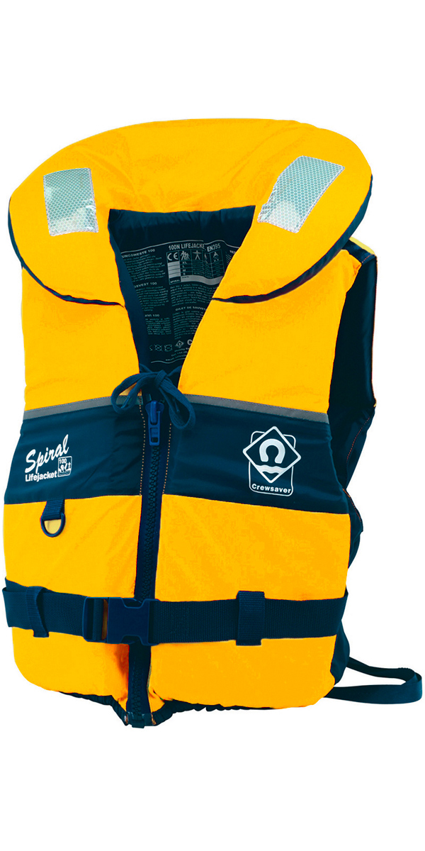 2018 Crewsaver Adult Spiral 100n Life Jacket in Yellow / Navy 2820