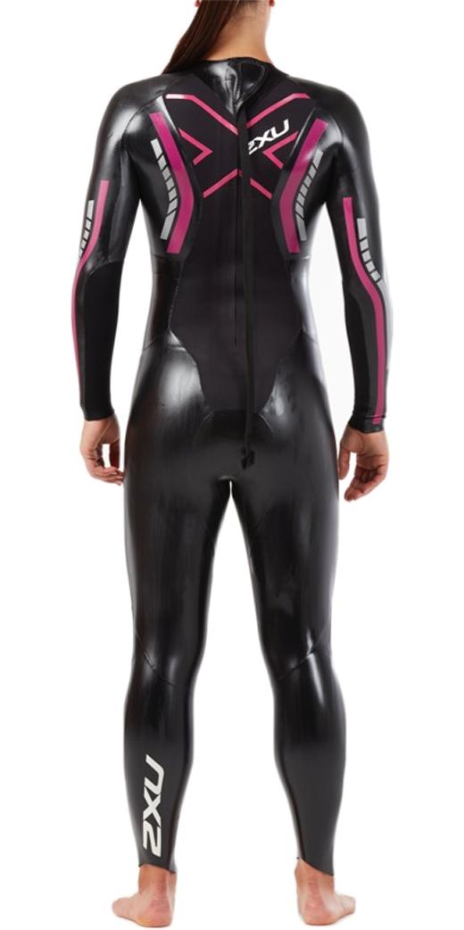 19d55f3654 2019 2XU Womens P:1 Propel Triathlon Wetsuit BLACK / PINK PEACOCK WW4994c  ...