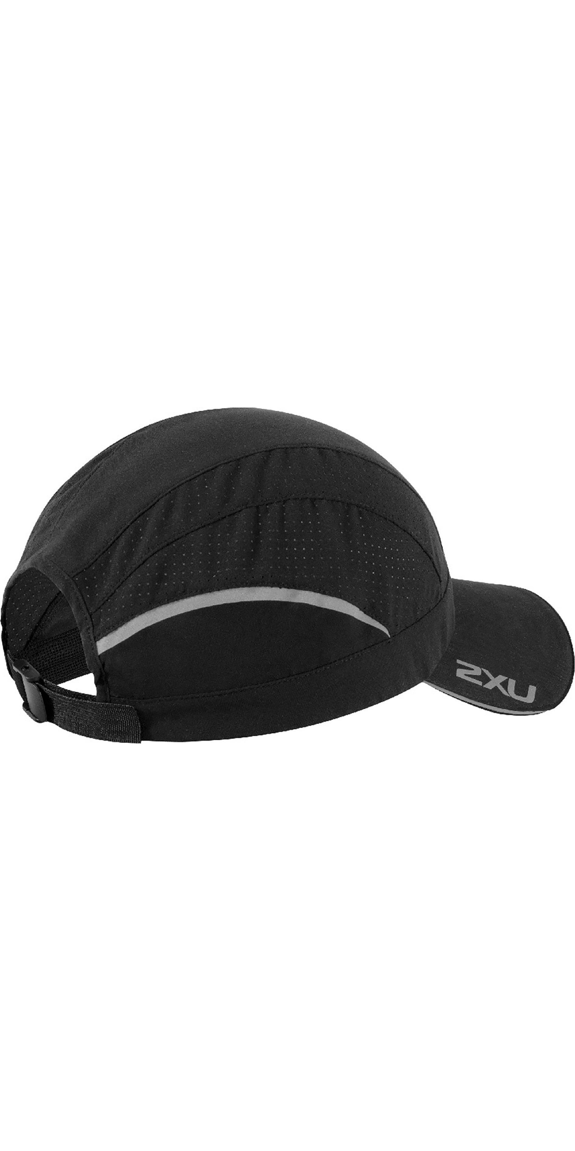 2019 2XU Quick Dry Vented Run Cap Black UQ5697f