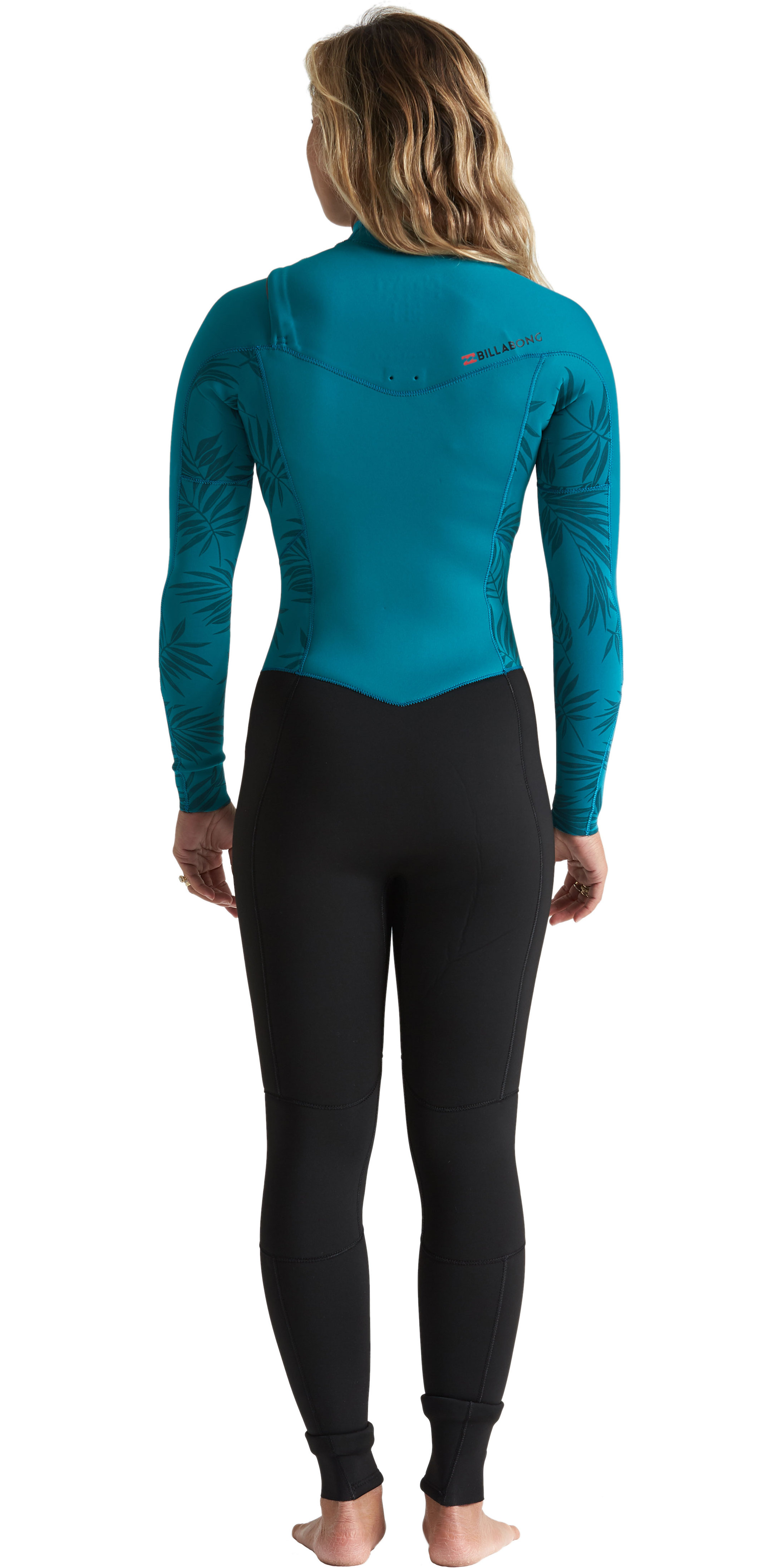 2020 Billabong Womens Furnace Synergy 4/3mm Chest Zip Wetsuit S44G52 - Mermaid