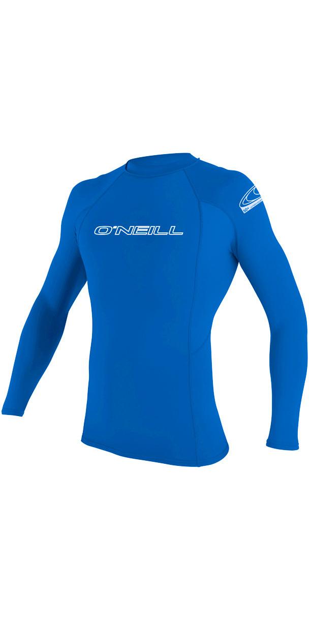 2020 O'Neill Basic Skins Long Sleeve Crew Rash Vest PACIFIC 3342