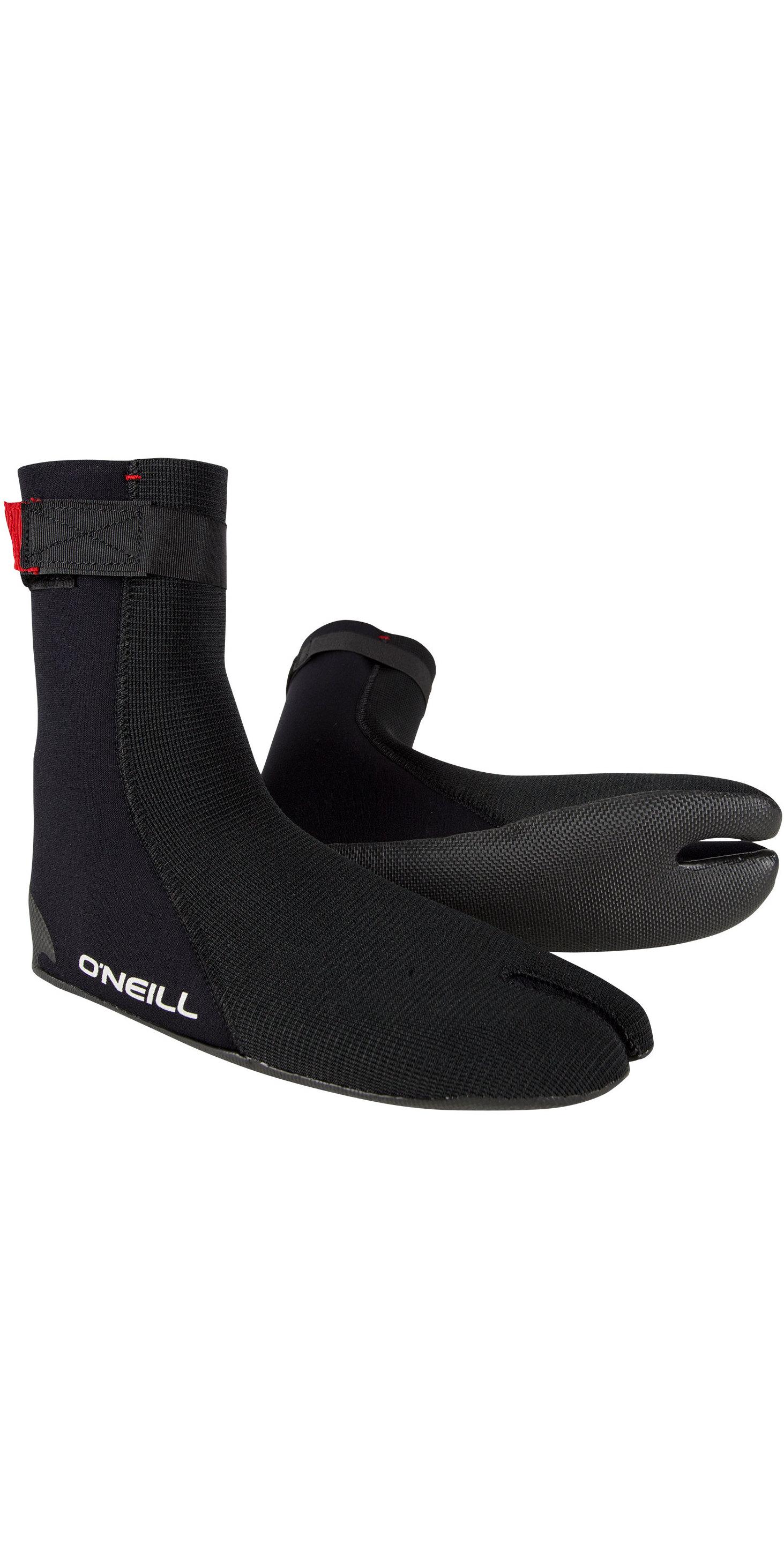 2019 O'Neill Heat Ninja 3mm Split Toe Boot Black 4786