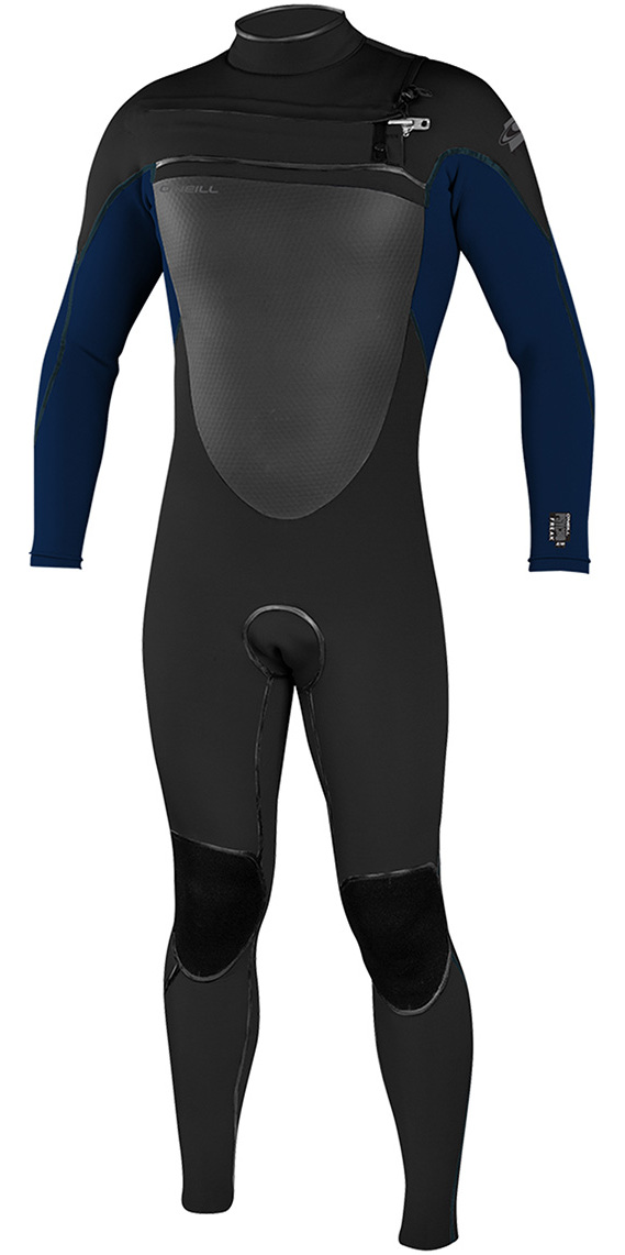 2019 O'Neill Psycho Freak 4/3mm Chest Zip Wetsuit BLACK / Slate 4960