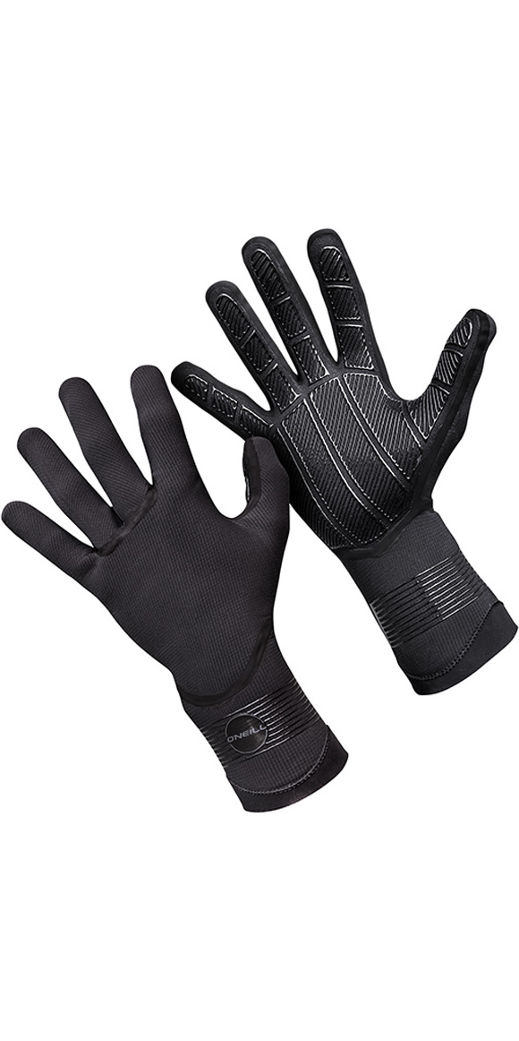 2019 O'Neill Psycho 5mm Double Lined Neoprene Gloves Black 5105