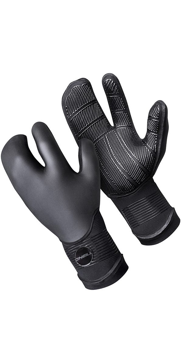 2018 O'Neill Psycho 5mm Double Lined Neoprene Lobster Gloves Black 5108