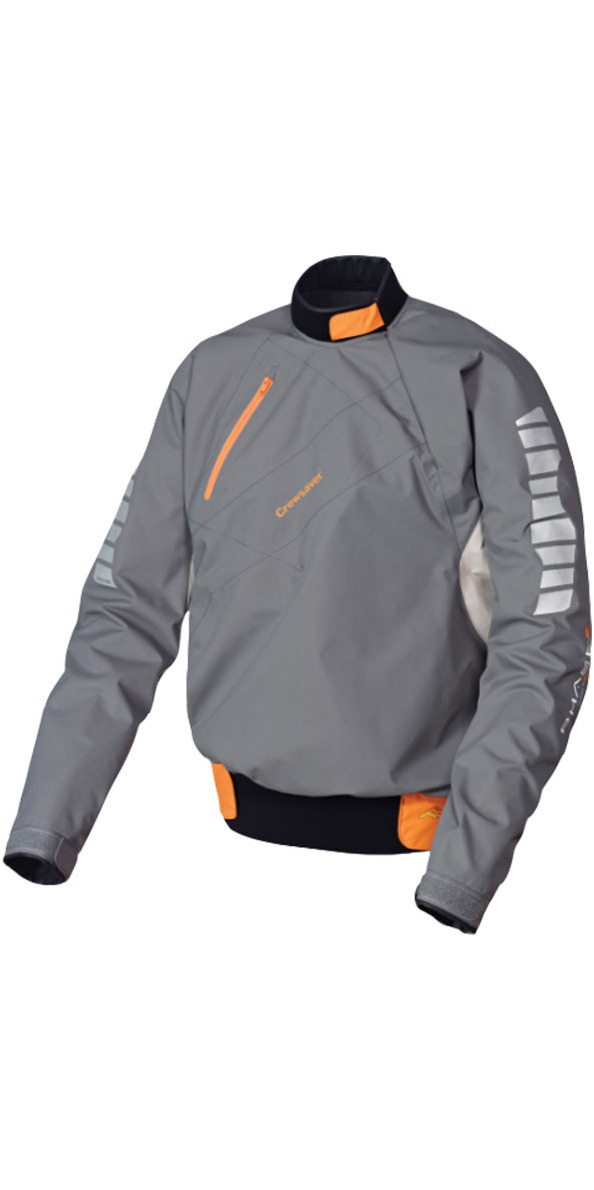 2017 Crewsaver JUNIOR PHASE 2 Spray Top in Grey / Orange 6901