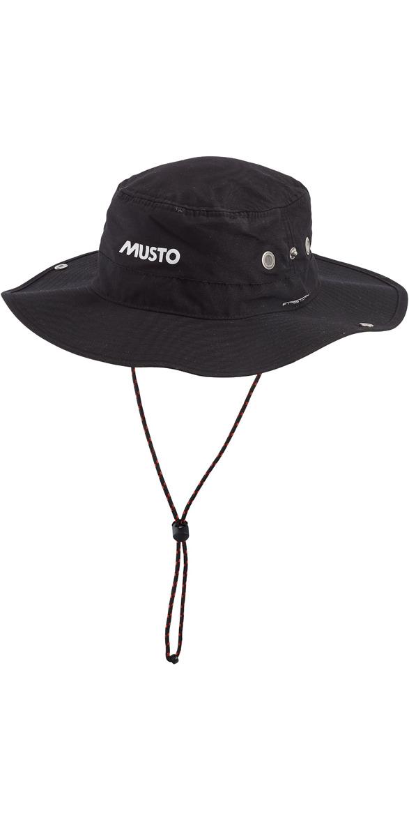 Musto Fast Dry Brimmed Hat in BLACK AL1410