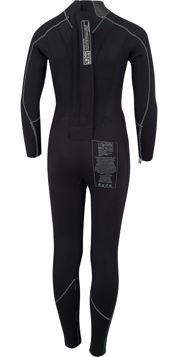 2018 Animal Junior Girls Nova 3/2mm Back Zip Flatlock Wetsuit Black AW8SN800