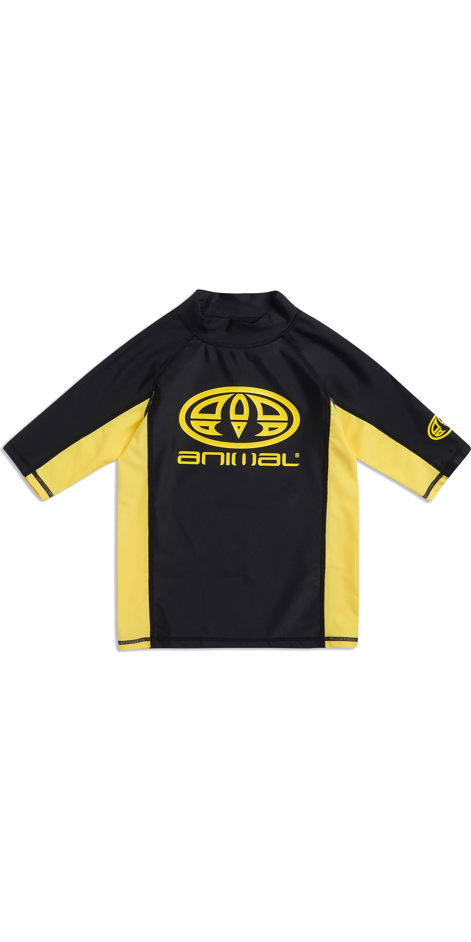 702b6a77a5 2019 Animal Junior Boys Hiltern Short Sleeve Rash Vest Black Cl9sq610 -  Short Sleeve Rash | Wetsuit Outlet