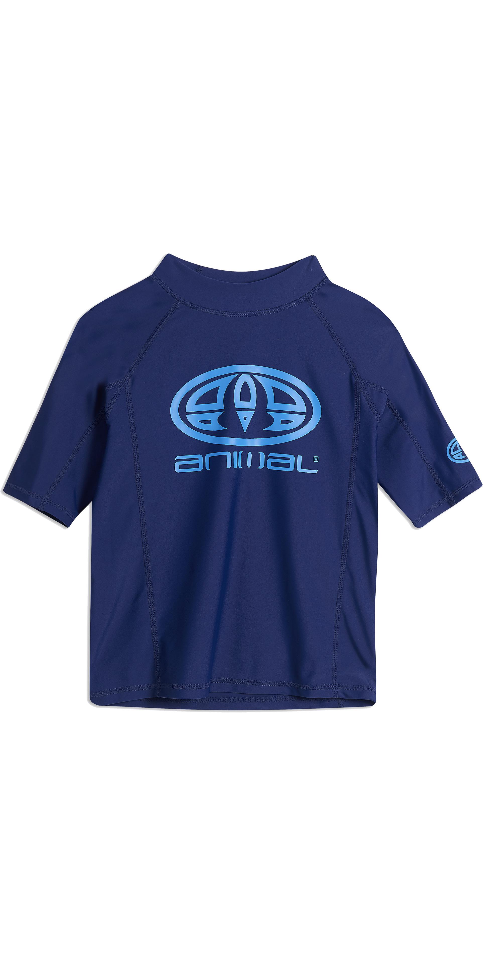 cf8951b68c 2019 Animal Junior Boys Hiltern Short Sleeve Rash Vest Nautical Blue  Cl9sq610 - Short | Wetsuit Outlet