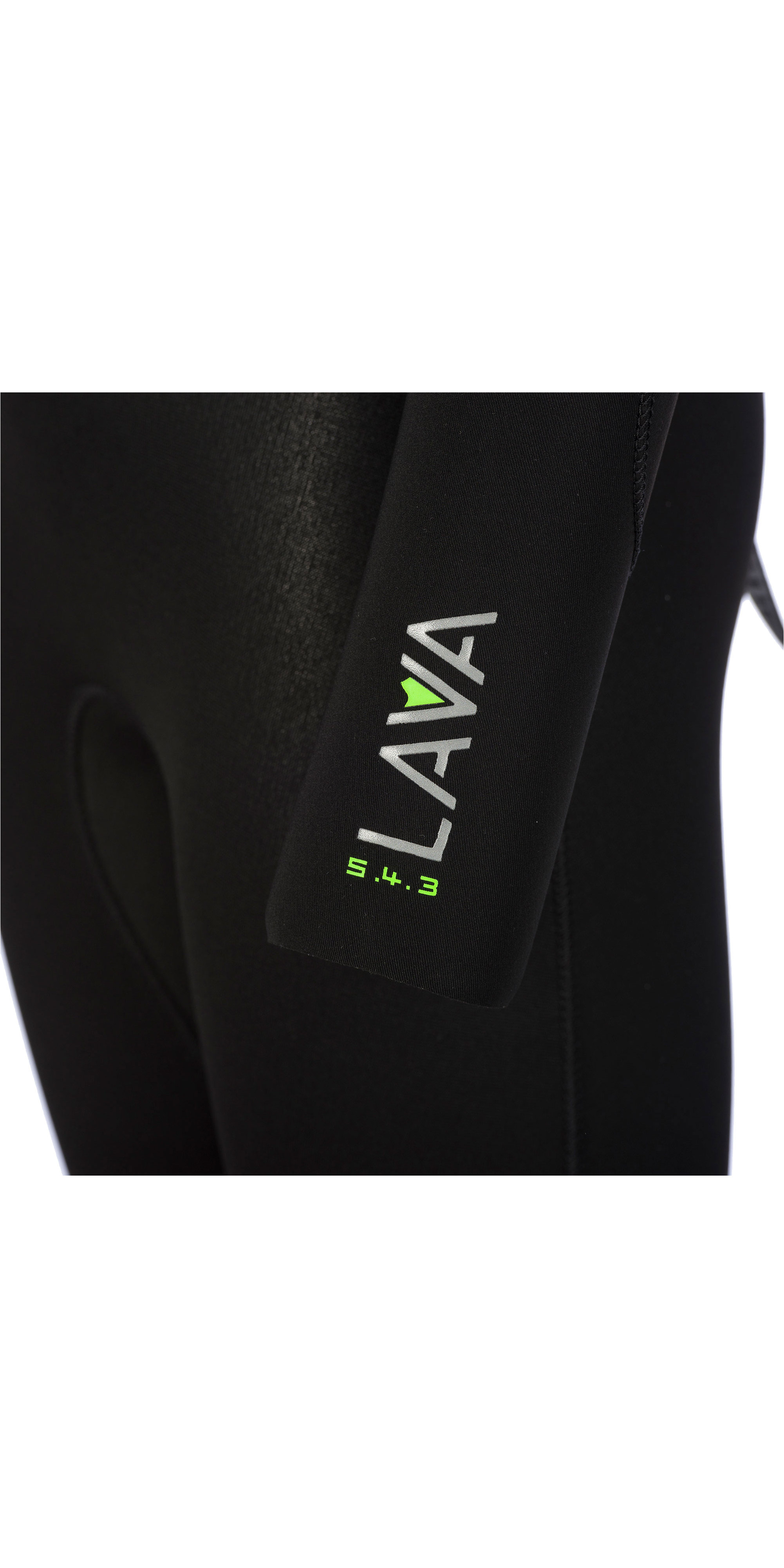 2019 Animal Junior Boys Lava 5/4/3mm GBS Back Zip Wetsuit Black AW9WQ601