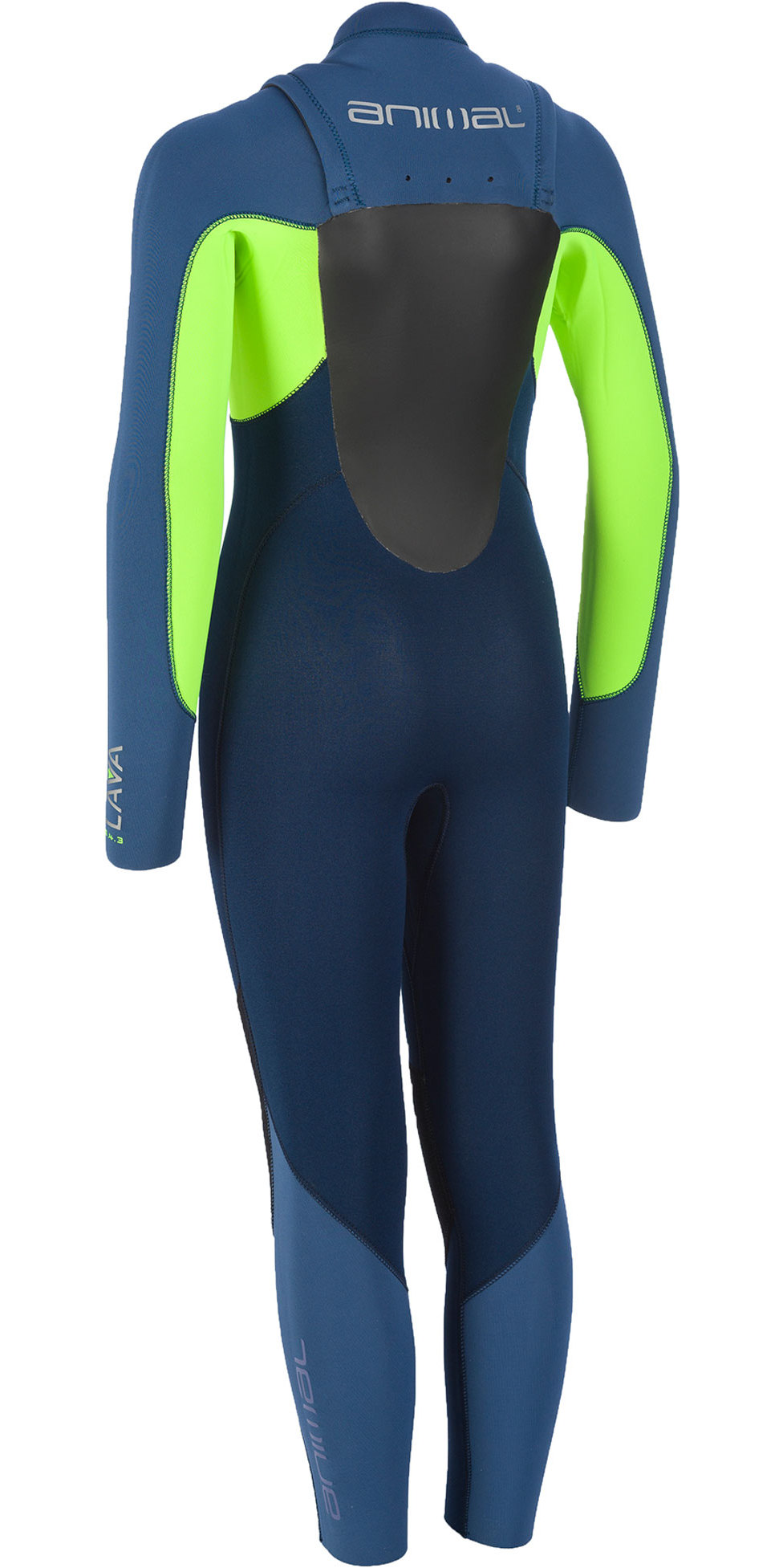 2019 Animal Junior Boys Lava 5/4/3mm GBS Chest Zip Wetsuit Navy AW9WQ600
