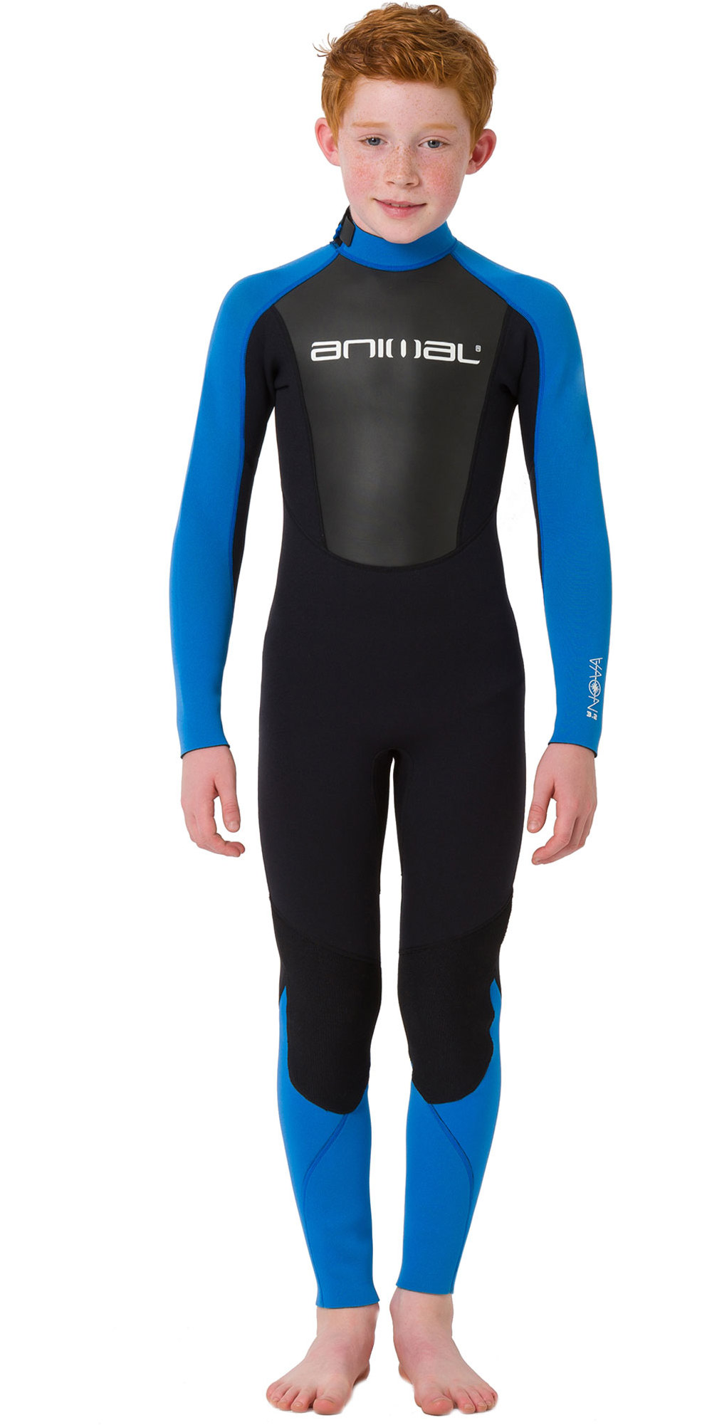 2019 Animal Junior Boys Nova 3/2mm Flatlock Back Zip Wetsuit Black AW9SQ602