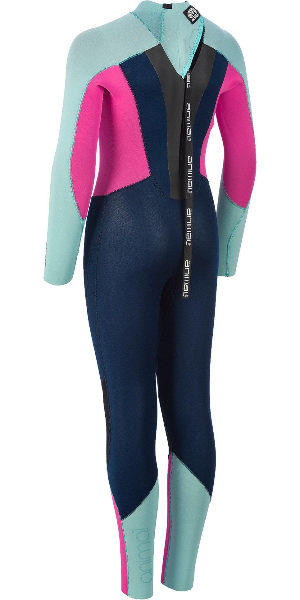 2019 Animal Junior Girls Lava 5/4/3mm GBS Back Zip Wetsuit Navy AW9WQ800