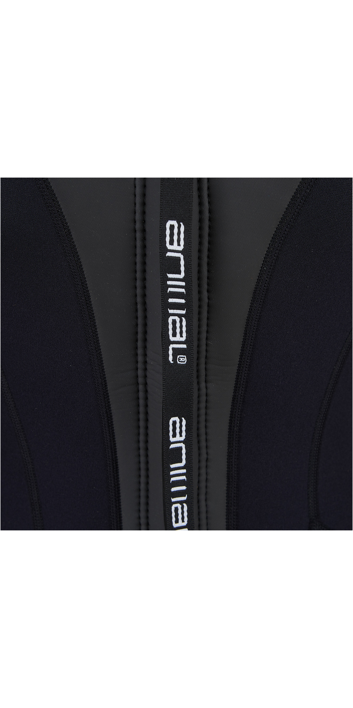 2019 Animal Junior Girls Nova 3/2mm Flatlock Back Zip Wetsuit Black AW9SQ802