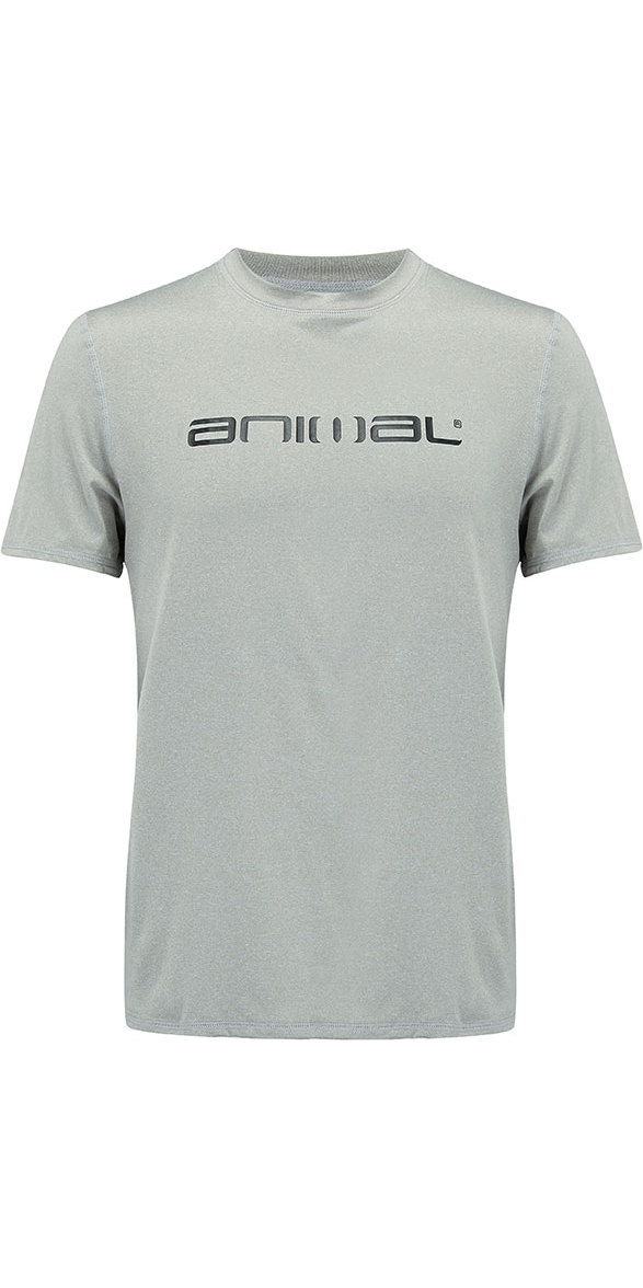 2018 Animal Latero Short Sleeve UV Protection Tee Grey Marl CL8SN022