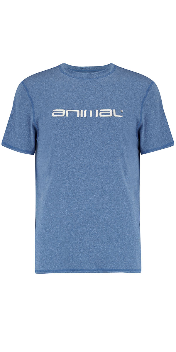 2018 Animal Latero Short Sleeve UV Protection Tee Snorkel Blue CL8SN022