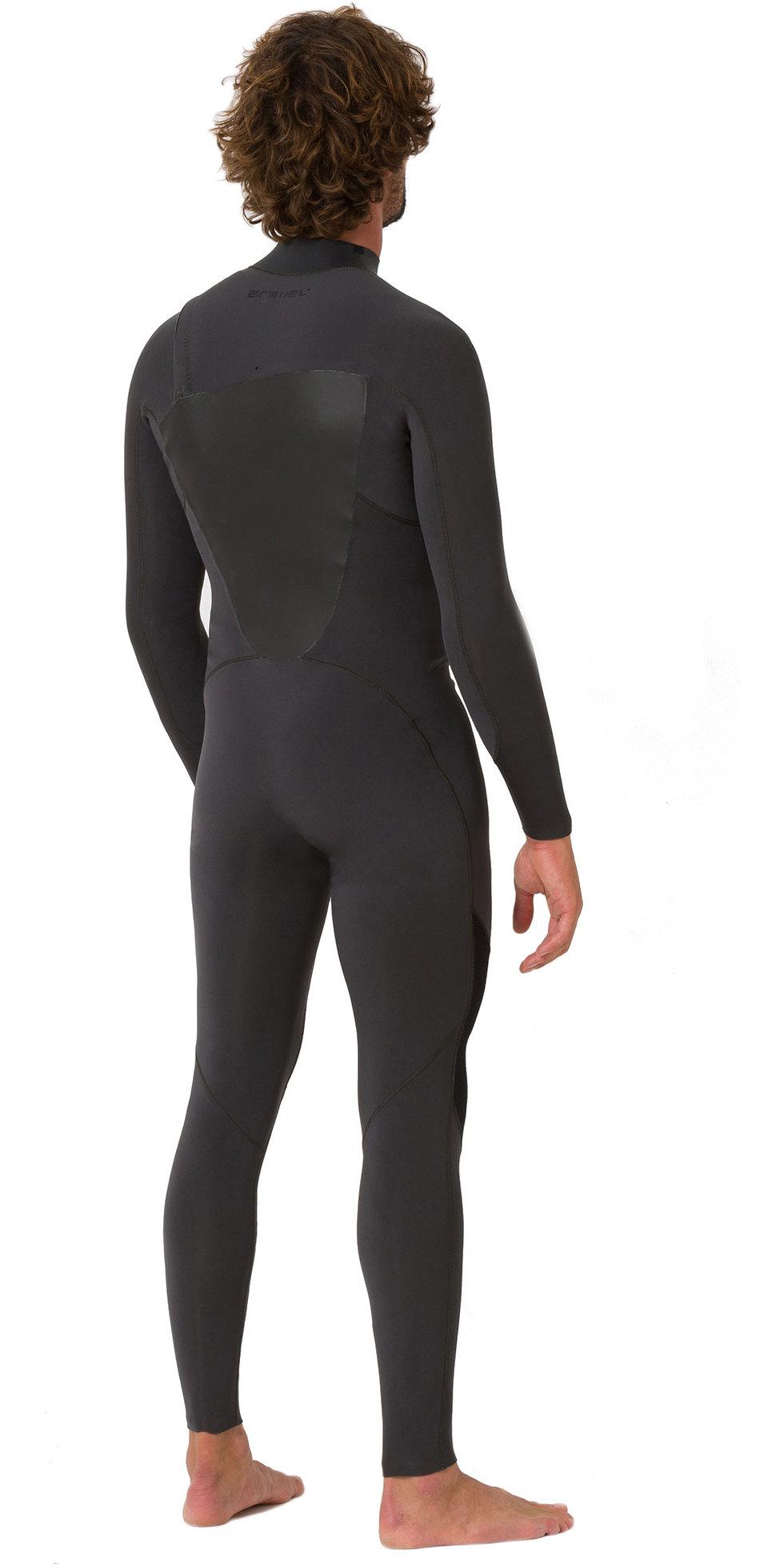 2019 Animal Mens ANML 3/2mm Zip Free Wetsuit Graphite Grey AW9SQ001