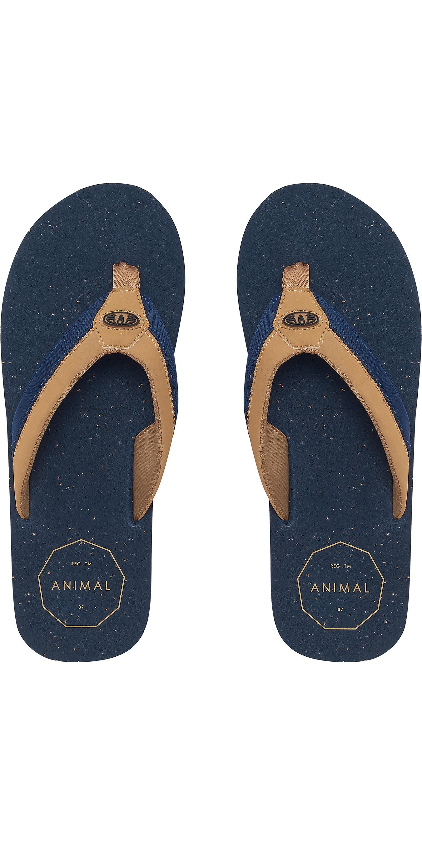 1c1342439f5e 2019 Animal Mens Huxley Flip Flops Dark Navy Fm9sq012 - Flip Flops -  Footwear - by Animal