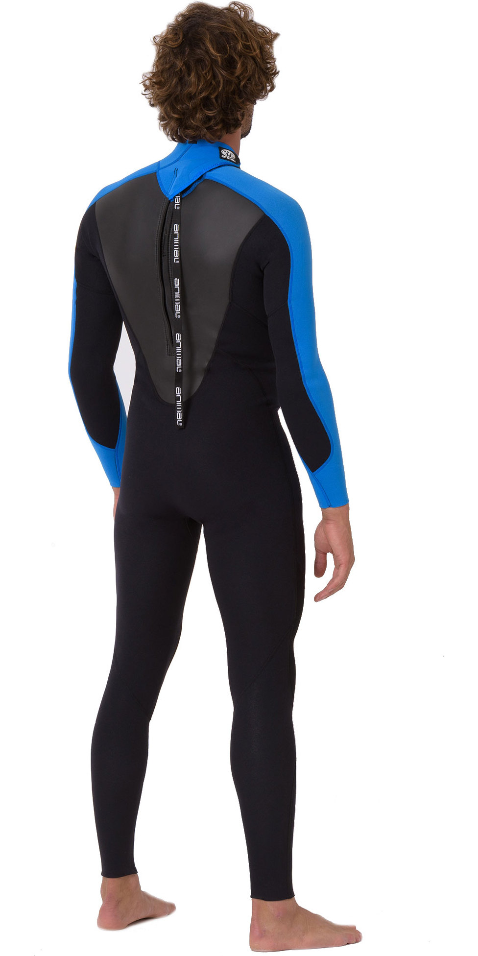 2019 Animal Mens Nova 3/2mm Flatlock Back Zip Wetsuit Black AW9SQ008