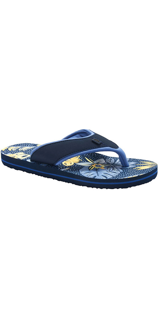 2018 Animal Swish AOP Womens Flip Flops Dark Navy FM8SN310