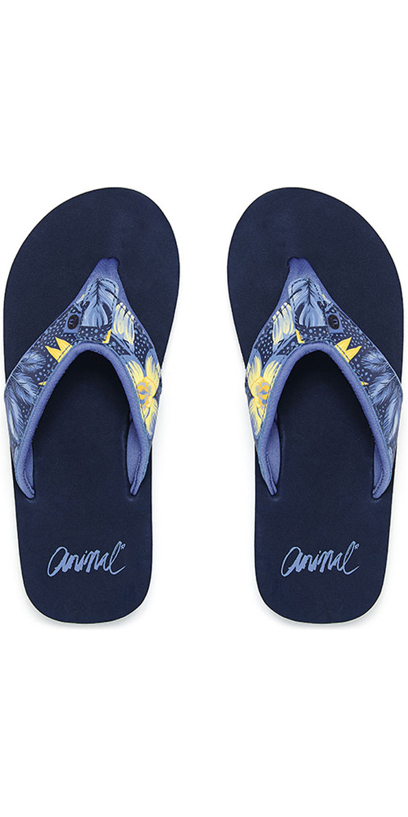 eedeb8a73907 2018 Animal Swish Upper Aop Womens Flip Flops Dark Navy Fm8sn307 ...