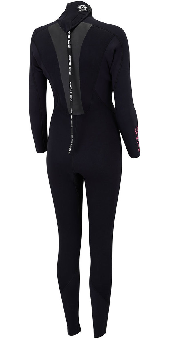 Animal Womens Lava 4/3mm Back Zip GBS Wetsuit Black AW8SN300