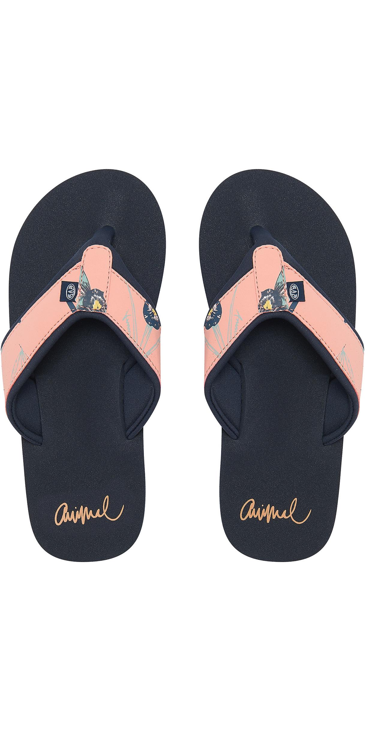 7267839e8 2019 Animal Womens Swish Upper Aop Flip Flops Sunset Pink Fm9sq307 - Flip  Flops - Footwear
