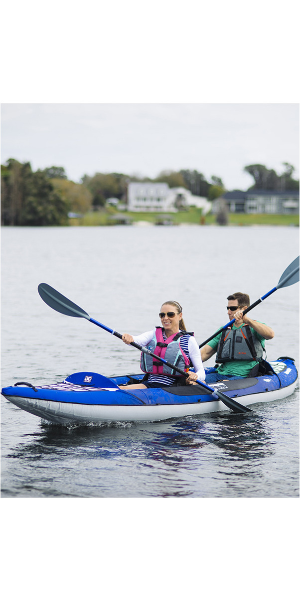 2019 Aquaglide Columbia XP 2 Man Touring Kayak - Blue - Kayak Only