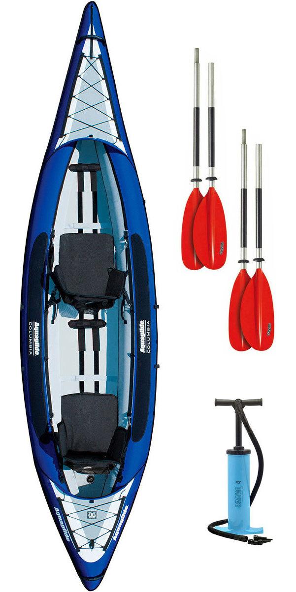 2020 Aquaglide Columbia XP 2 Man Touring Kayak + 2 FREE PADDLES + PUMP