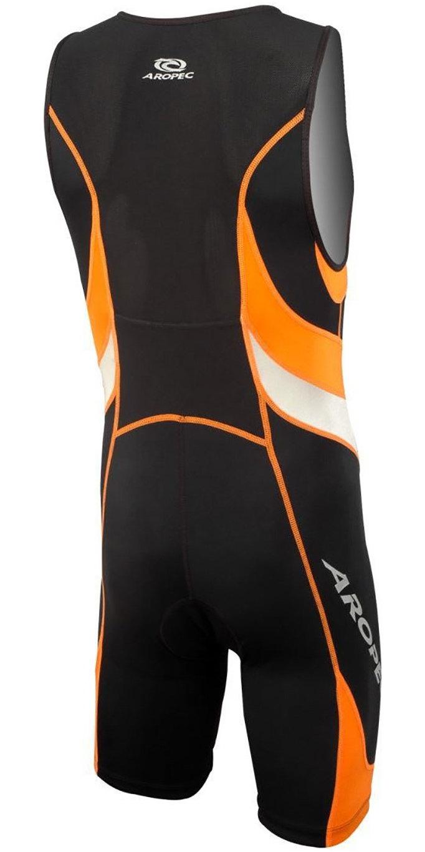 2019 Aropec Mens Lion Lycra Triathlon Suit Black Orange SS3T106M