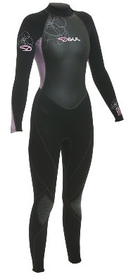 Gul Axis 5mm Ladies Steamer Wetsuit Black/PINK