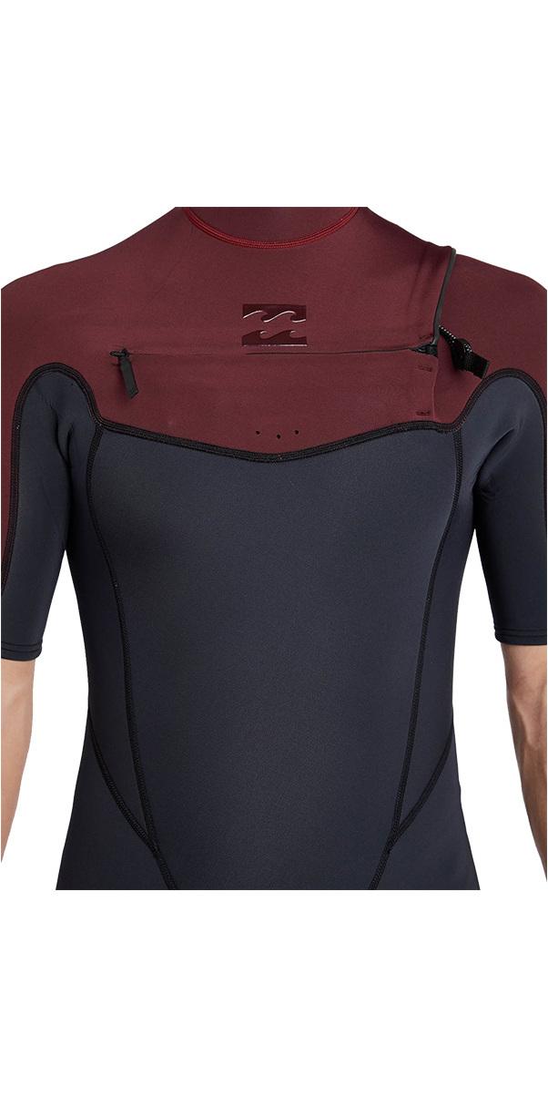 9e10d72cb7 2018 Billabong Absolute 2mm Chest Zip Short Sleeve Wetsuit BIKING RED  H42M25 ...