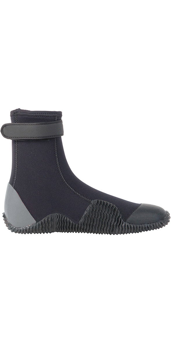 2019 Gul Power 5mm Round Toe wetsuit Boot Black / Grey BO1263-A8