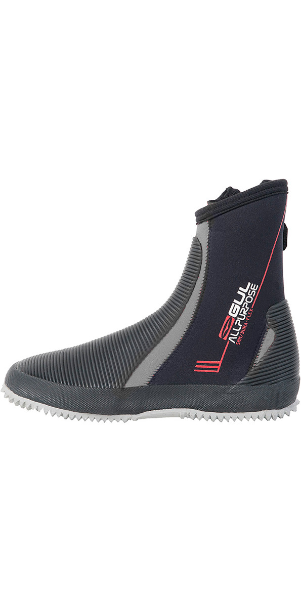 2017 Gul All Purpose 5mm wetsuit Boots in Black / Grey BO1276
