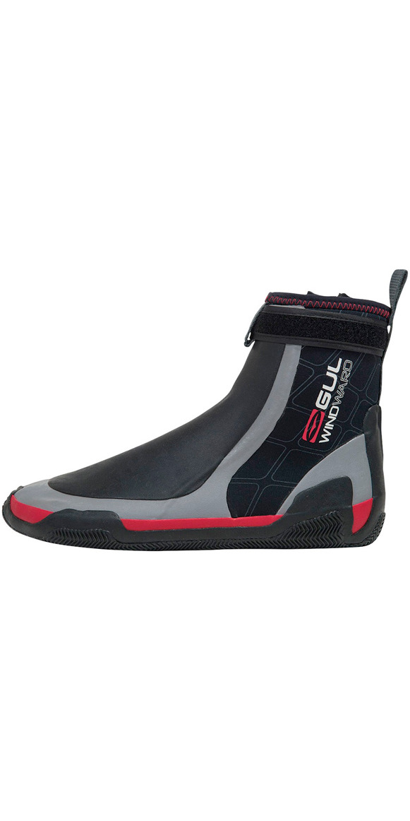 2019 Gul CZ Windward Pro 5mm Zipped Round Toe wetsuit Boot BLACK /GREY BO1279 A8