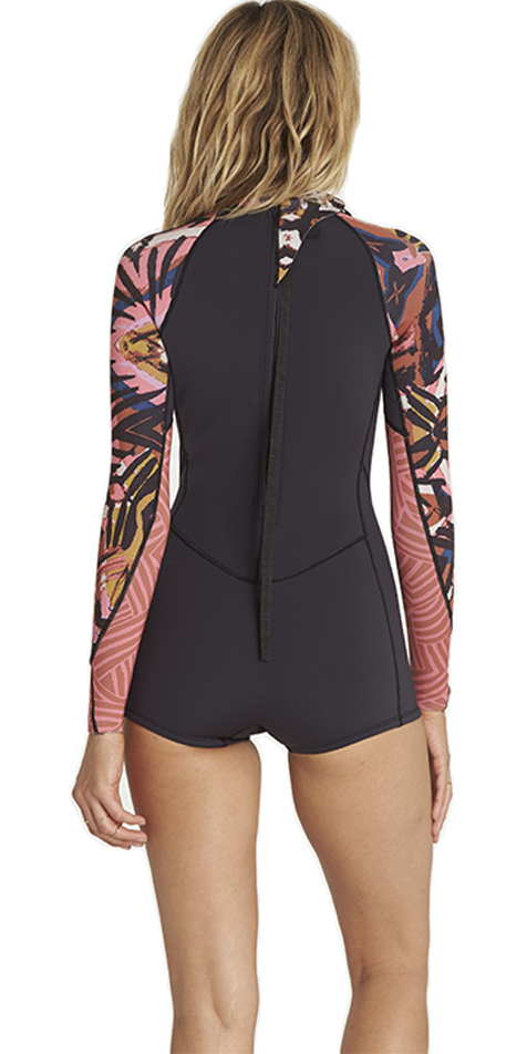 452c704d7e 2018 Billabong Womens Spring Fever 2mm Long Sleeve Back Zip Spring Shorty  Wetsuit TRIBAL H42G01 ...
